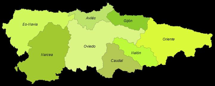 Comarcas de Asturias