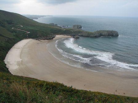 Playa de Torimbia en Niembro (Asturias)
