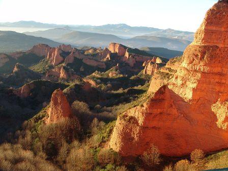 Espacios Naturales de la Comunidad de Castilla y León, las medulas