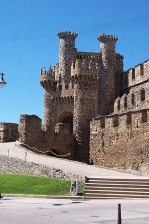 Castillo templario en Ponferrada Leon