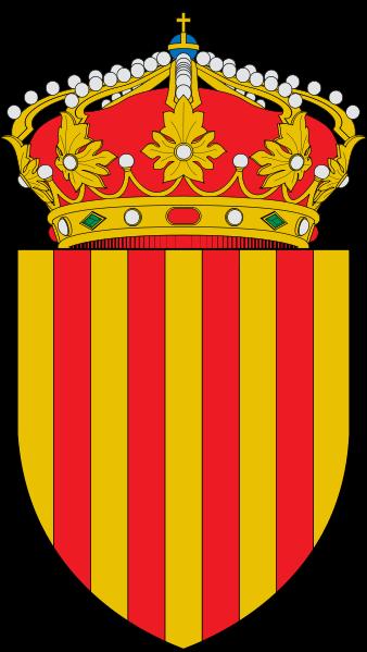 L'escut de Catalunya : d'or, quatre pals de gules