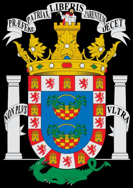 El escudo de la ciudad de Melilla