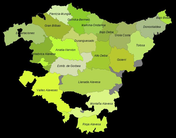 comarcas del pais vasco