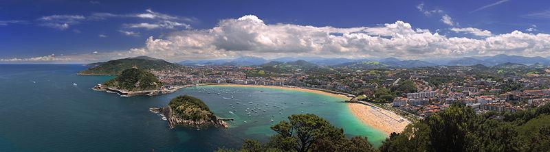 Playa de la Concha en San Sebastian