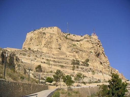 Vista del Castillo de Santa Bárbara, Alicante