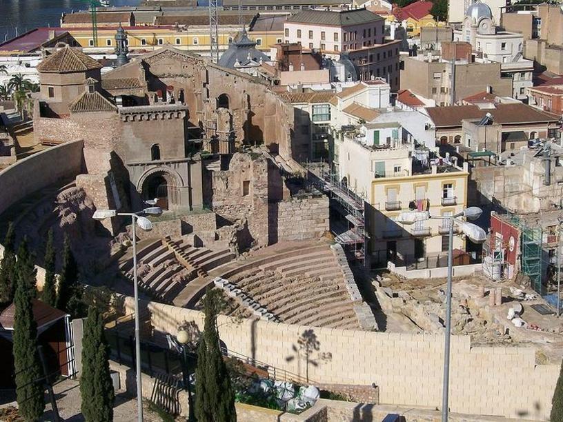 El teatro romano, de Cartagena Murcia