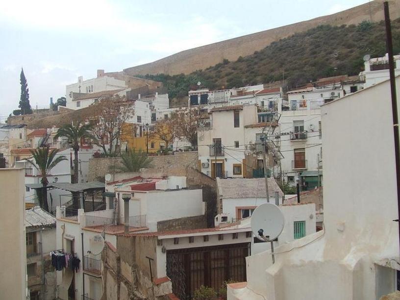 Barrio de Santa Cruz desde las laderas del Castillo de Santa Bárbara.