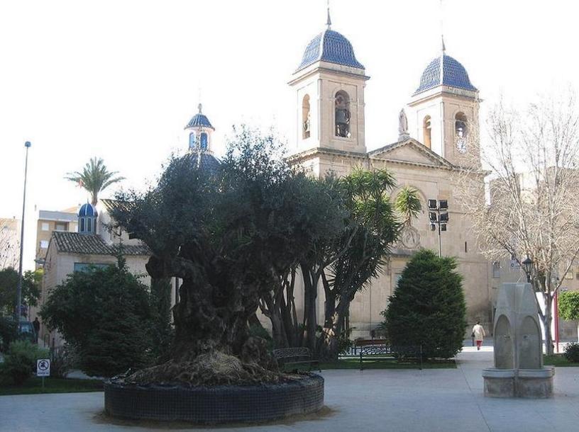 Plaza España en la localidad San Jaun de Alicante