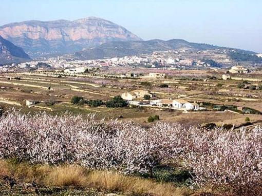 Vista panorámica de Teulada, Marina Alta, Alicante