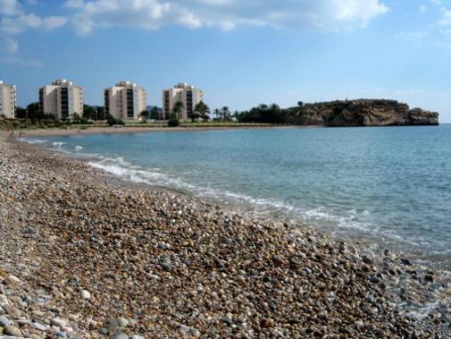 en la playa de Mazarrón