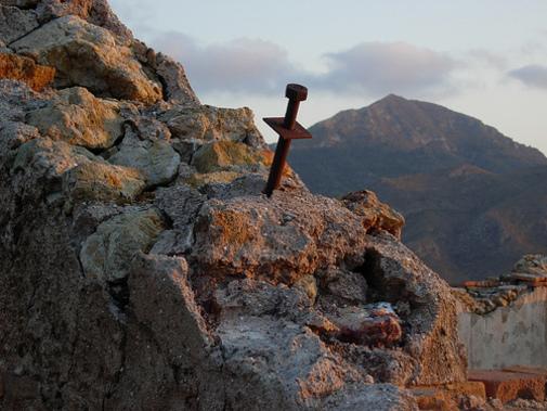Clavo sobre piedra. Minas de Mazarrón
