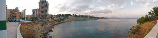 Vista panorámica de Calpe y la playa