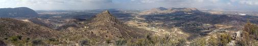 Vista panorámica de la Sierra Mitjana