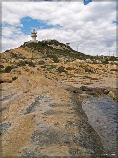 Cala y faro en Cabo de las Huertos