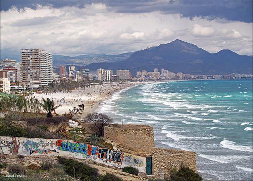 Playa de San Juan desde Cabo de las Huertas