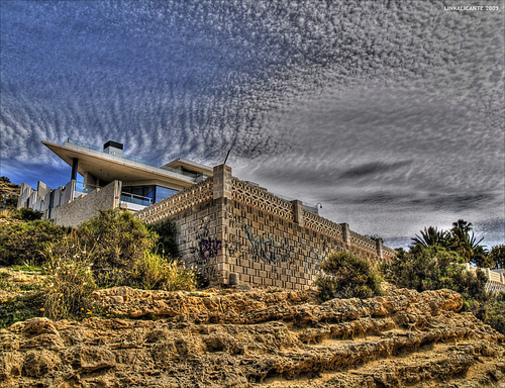 Emplazamientos edilicios cercano a las playas de Cabo de las Huertas