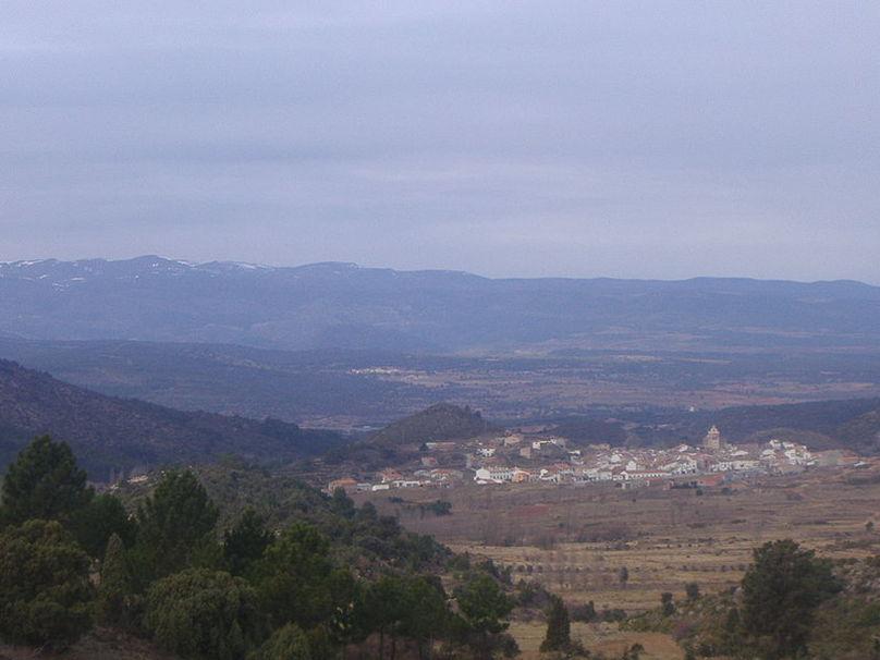 Vista panorámica de Pina de Montalgrao en Alto Palancia