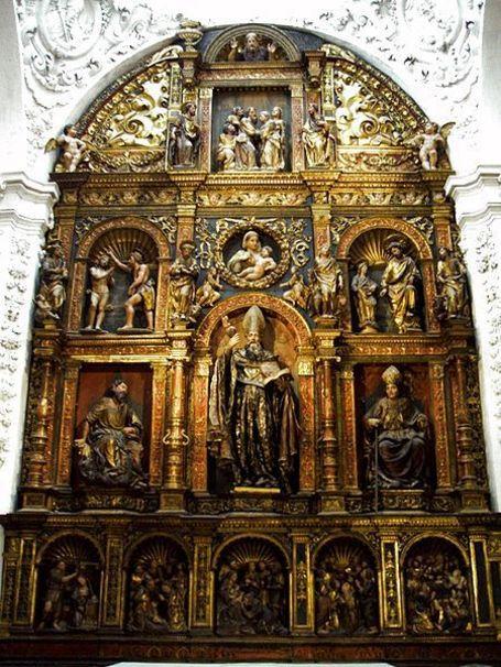 Retablo renacentista plateresco (1521) de la Capilla de San Agustín, Catedral del Salvador (La Seo)