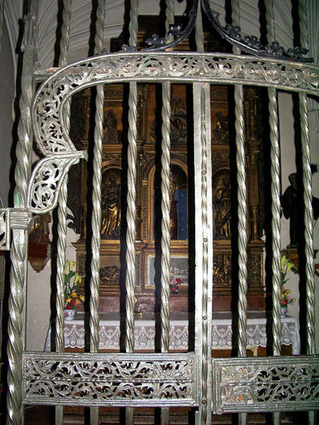 :Detalle rejería iglesia de San Pablo (Zaragoza).