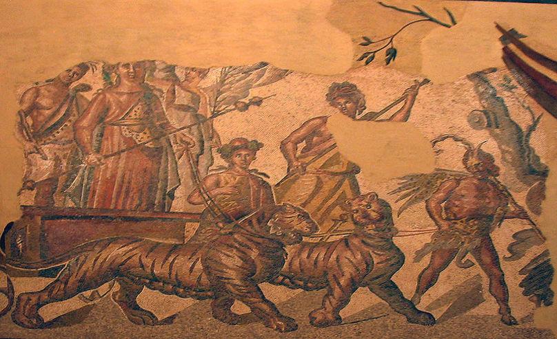Mosaico del Triunfo de Baco, Siglo II.Zaragoza