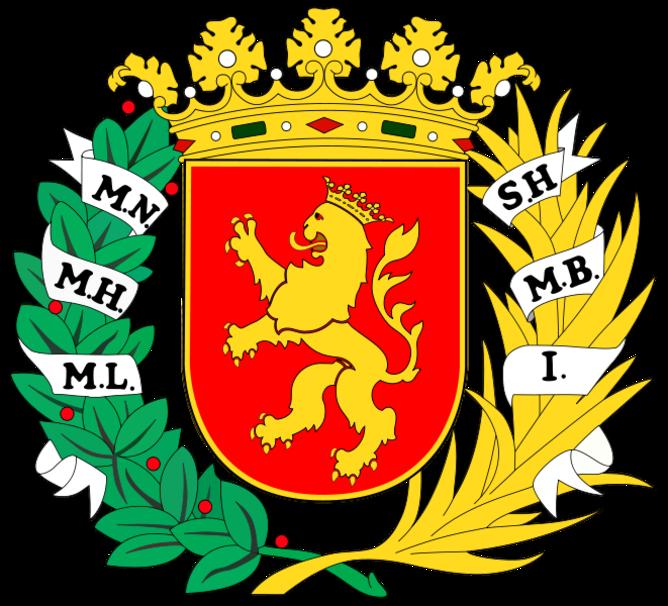 Escudo de Zaragoza (Aragón).