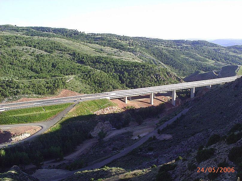 Autovía A-23 dirección Valenci
