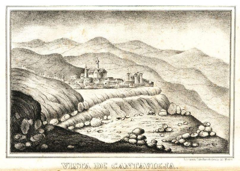 """Cantavieja. Dámaso Calbo y Rochina de Castro. """"Historia de Cabrera"""". Madrid 1845"""