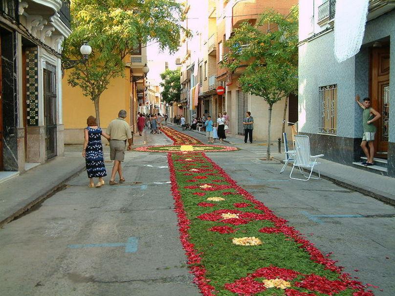 Tapís de flors del Corpus, Juny a Picanya