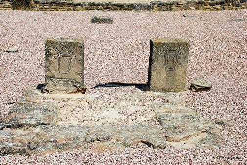 Vista parcial del Taurobolio, Villa de las Musas, Arellano, Navarra España