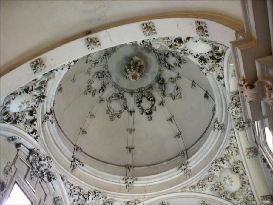 Interior de la Cupula de la Capilla de la Comunion perteneciente al conjunto de la Iglesia de San Vi