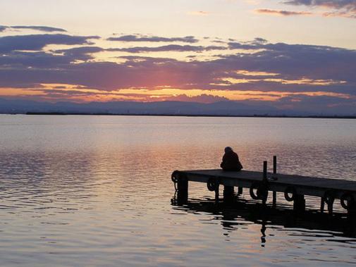 Aguas de el lago de la Albufera