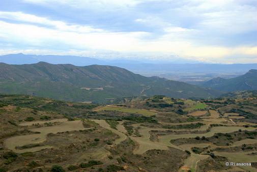 Vista desde Ujué, Navarra, España