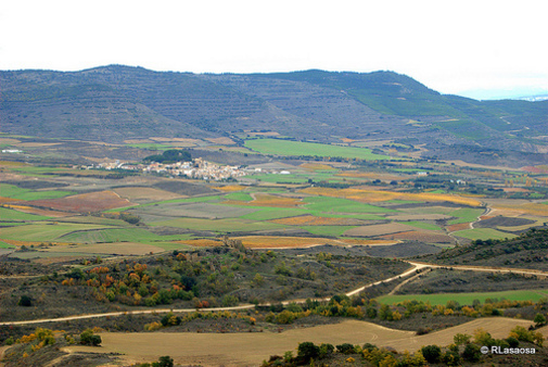 Entre Lerga y Ujué por Rufino Lasaosa. Paisajes entre Lerga y Ujué, en la zona media de Navarra, Esp
