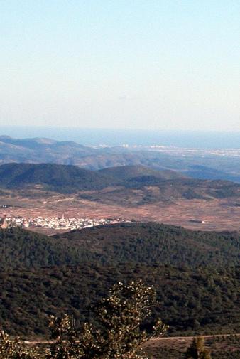 Vista de la villa de Alcublas, Los Serranos