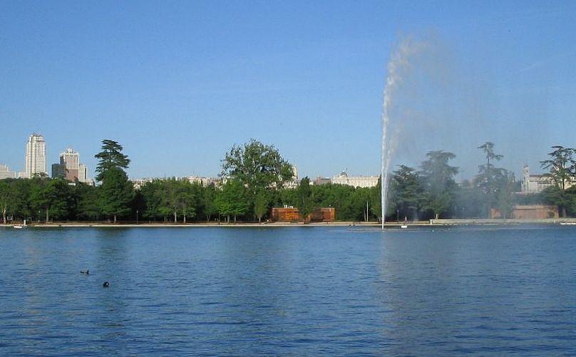 Lago de la Casa de Campo de Madrid.