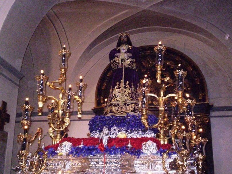 Imagen de Jesús el Pobre, en la Iglesia de San Pedro el Viejo. Madri