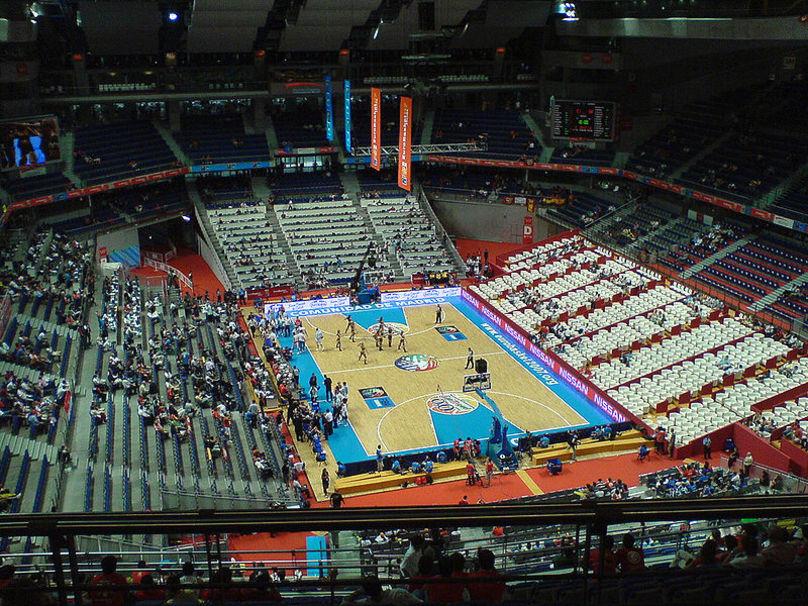 Interior de el Palacio de Deportes de la Comunidad de Madrid