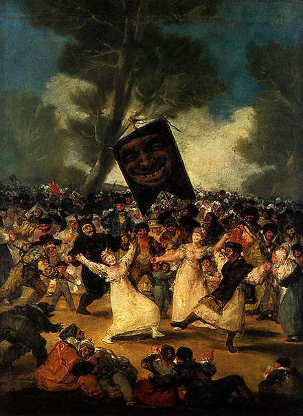 """Cuadro """"El entierro de la sardina"""". Real Academia de Bellas Artes de San Fernando."""