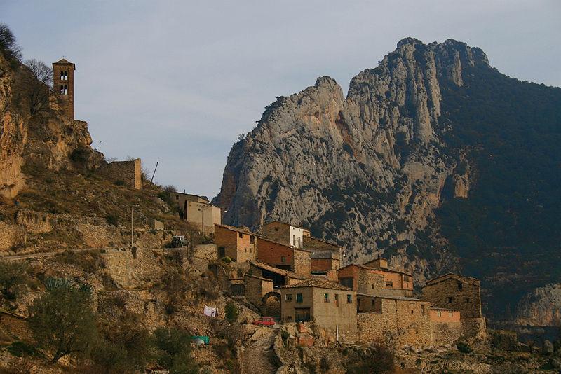 El poble d´Abella de la Conca