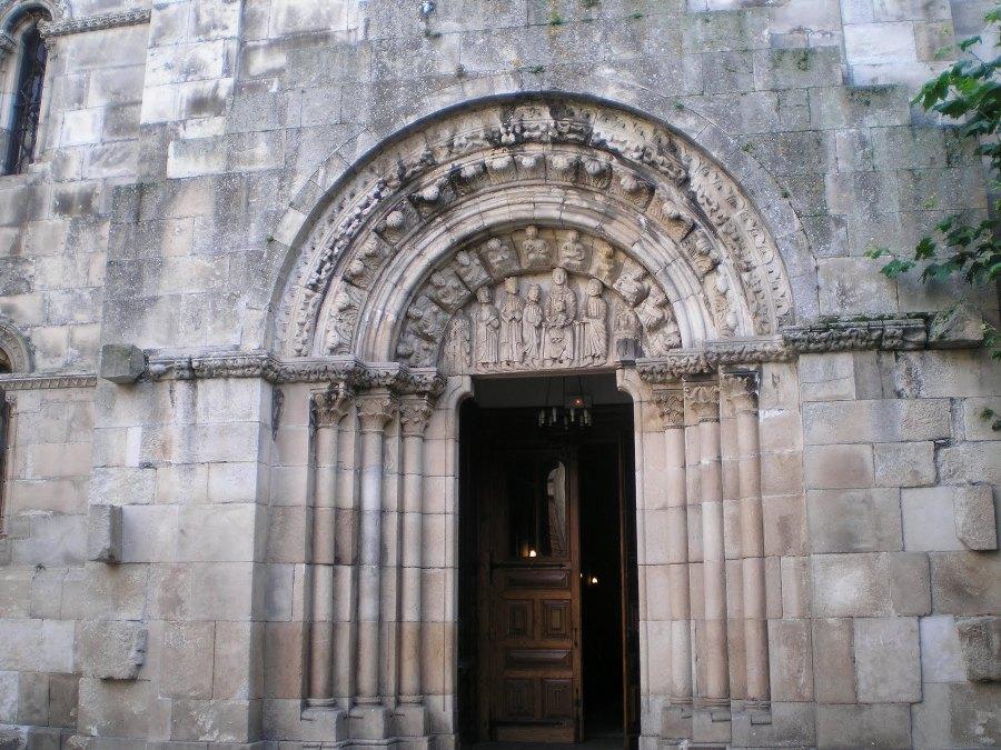 Portada de Poniente de Santa Mª del Campo en A Coruña