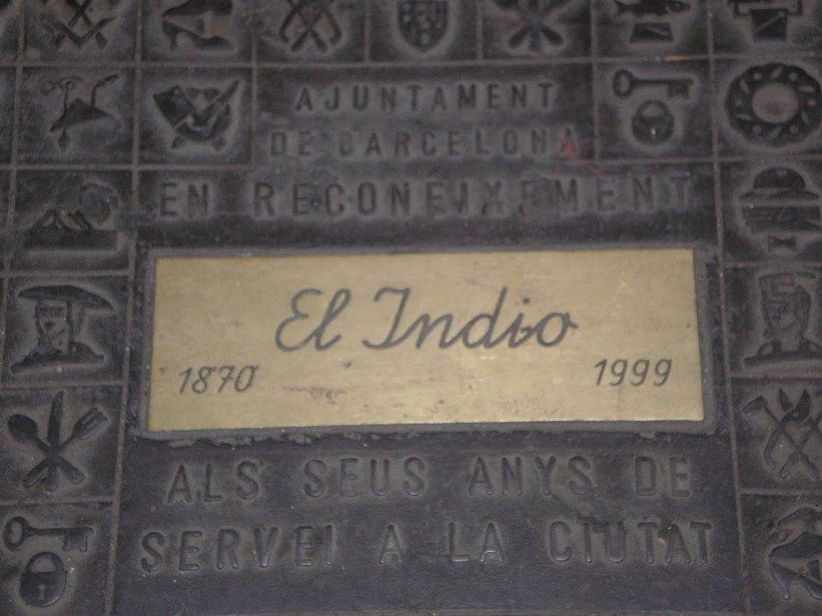 Homenaje al comercio en Barcelona