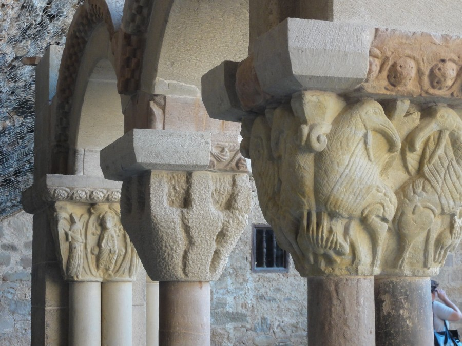 Detalle capiteles de San Juan de La Peña
