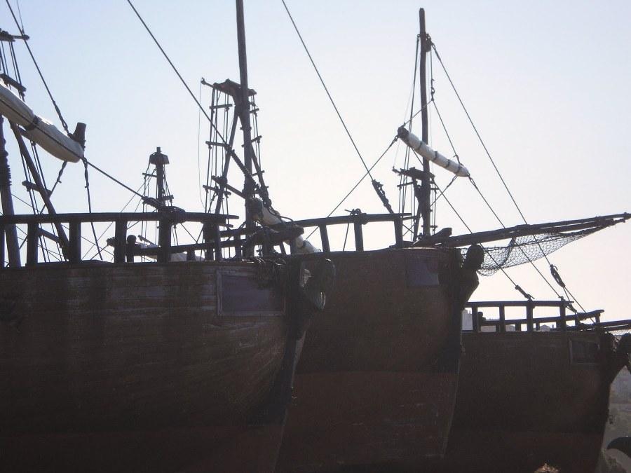Galeones de Vital Alsaren la peninsula de La Magdalena