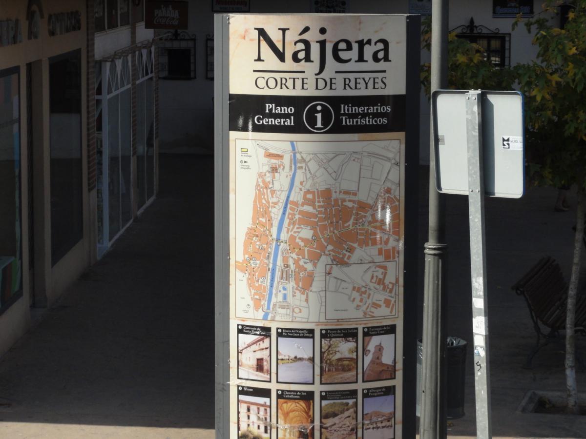 Plano turistico de Nájera