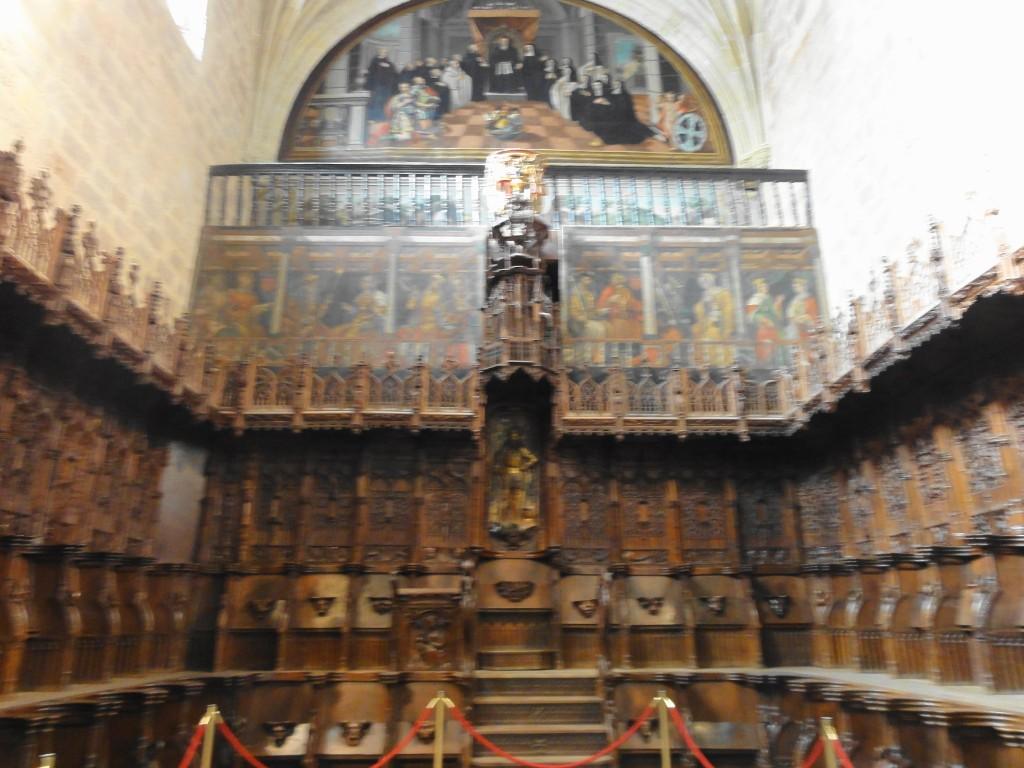 Los lienzos y el coro de Nájera