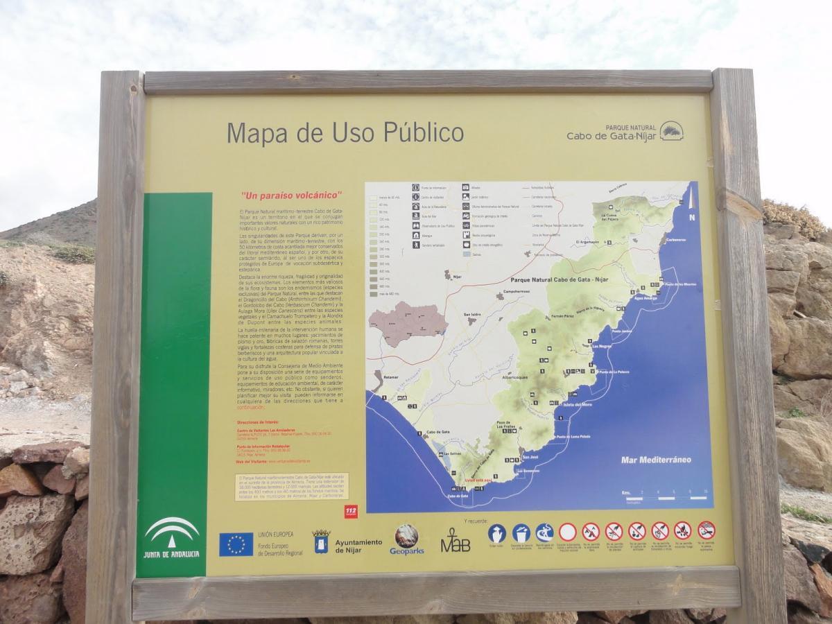 Mapa del Parque Cabo de Gata-Níjar