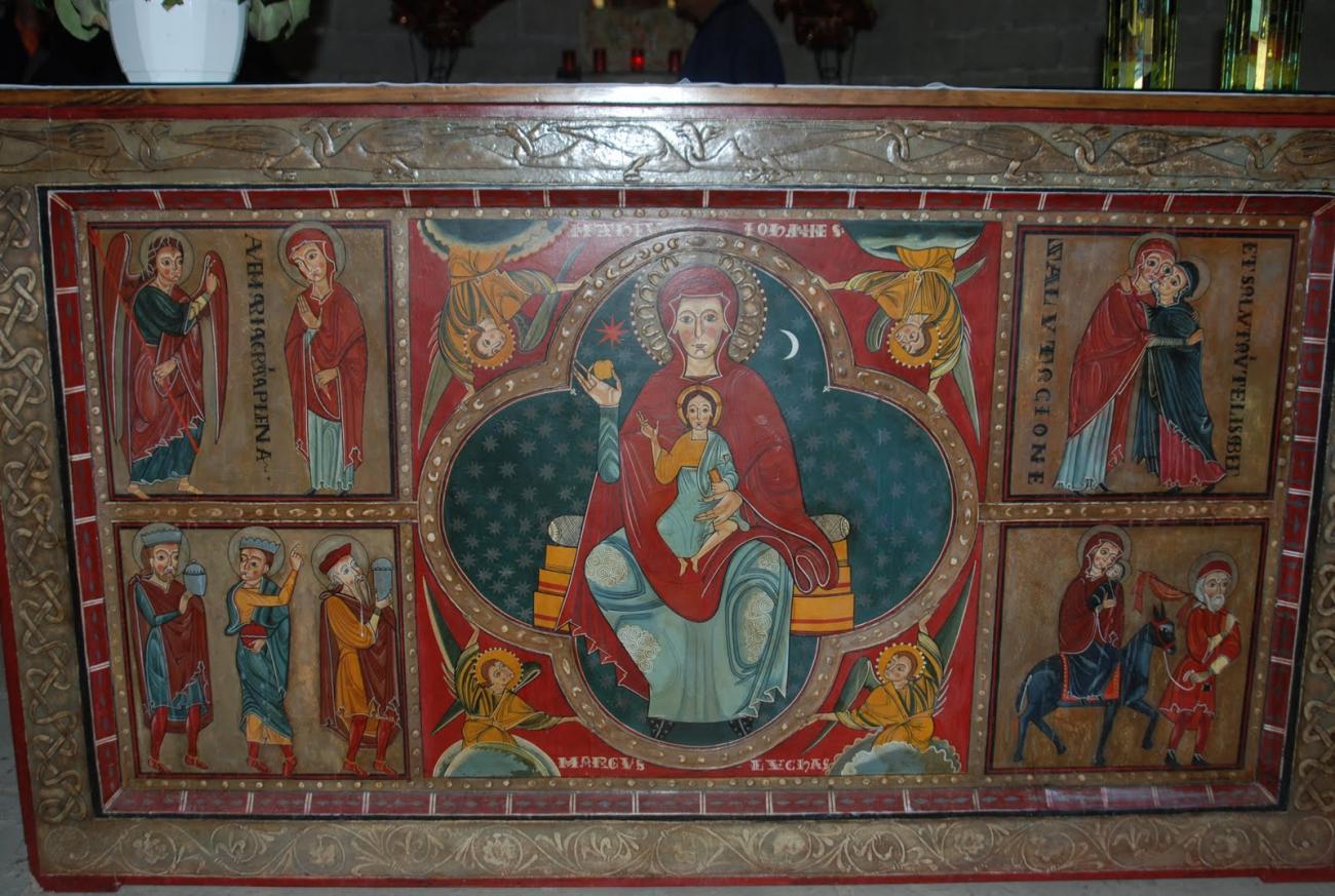 Románico: Pinturas Altar Mayor Santa Maria de Lluçà