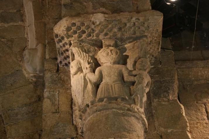 capitells historiats de Sant Esteve d'en Bas