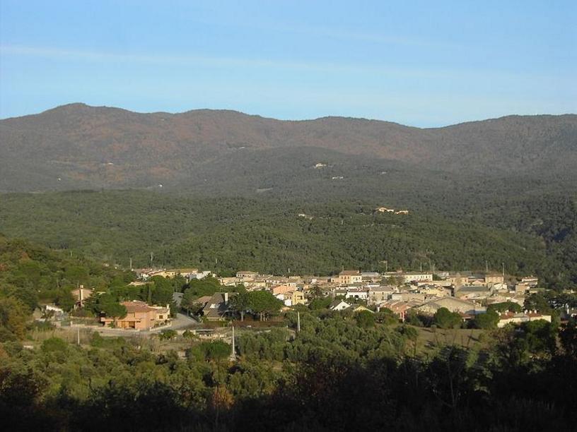 Vista general del núcleo de Agullana, municipio de la comarca gerundense del Alto Ampurdá