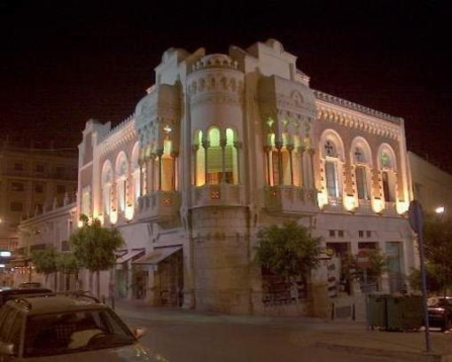 Detalle de uno de los edifiicios morunos de Ceuta